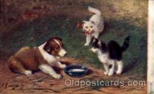 Series 122 Artist Sperlich Cat, Cats Post Card Post Card
