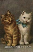 art151128 - Series 768 Artist Sperlich Cat, Cats Post Card Post Card