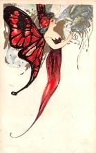 art201226 - Samuel Schmucker Butterfly Old Vintage Antique Post Card