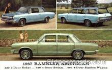 aut100010 - 1967 Rambler American Auto, Automobile, Car, Postcard Post Card