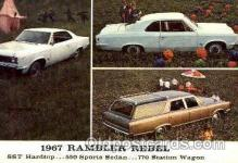 aut100012 - 1967 Rambler Rebel Auto, Automobile, Car, Postcard Post Card