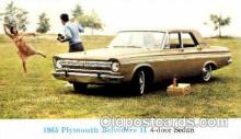 aut100013 - 1965 Plymouth Belvedere 2 Auto, Automobile, Car, Postcard Post Card