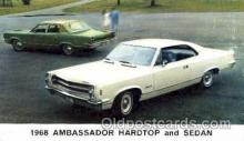 aut100014 - 1968 Ambassador Hardtop and Sedan Auto, Automobile, Car, Postcard Post Card