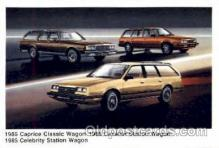 aut100023 - 1985 Caprice Classic Wagon, Cavalier Station Wagon, Celebrity Station Wagon Auto, Automobile, Car, Postcard Post Card