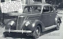 aut100026 - 1937 Ford V-8 Coupe Auto, Automobile, Car, Postcard Post Card