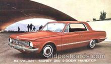aut100029 - 1964 Valiant Signet 200 Hardtop Auto, Automobile, Car, Postcard Post Card