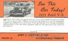 aut100043 - 1935 Ford V-8 Auto, Automobile, Car, Postcard Post Card