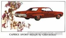 aut100047 - 1970 Chevrolet Caprice Sport Sedan Auto, Automobile, Car, Postcard Post Card