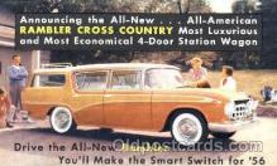 aut100053 - 1956 Rambler Cross Country Auto, Automobile, Car, Postcard Post Card