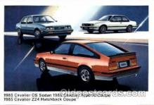 aut100058 - 1985 Cavalier CS Sedan Auto, Automobile, Car, Postcard Post Card