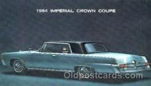 aut100069 - 1964 Imperial Crown Coupe Auto, Automobile, Car, Postcard Post Card