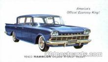 aut100070 - 1960 Rambler Deluxe Sedan Auto, Automobile, Car, Postcard Post Card