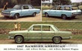 aut100071 - 1967 Rambler American Auto, Automobile, Car, Postcard Post Card