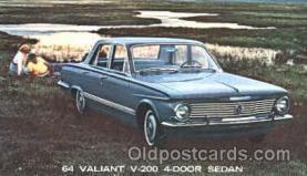 aut100080 - 1964 Valiant V-200 Sedan Auto, Automobile, Car, Postcard Post Card