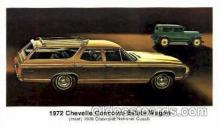 aut100083 - 1972 Chevelle Concours Estate Wagon Auto, Automobile, Car, Postcard Post Card
