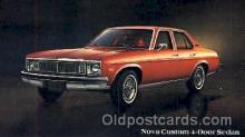 aut100100 - 1978 Nova Custom Sedan Auto, Automobile, Car, Postcard Post Card