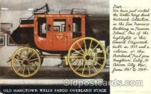 aut100119 - Hangtowns Wells Fargo Overland Stage Auto, Automobile, Car, Postcard Post Card