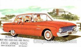 aut100130 - 1960 Ford Falcon Sedan Auto, Automobile, Car, Postcard Post Card