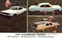 aut100151 - 1967 Rambler Rebel Auto, Automobile, Car, Postcard Post Card
