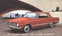 aut100172 - Valiant Signet 200, 2-Door Hardtop Auto, Automotive, Vehicle, Car, Postcard Post Card