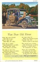 aut100189 - Old Flivver, King A.Woodburn Auto, Automotive, Vehicle, Car, Postcard Post Card