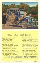 aut100190 - Old Flivver, King A.Woodburn Auto, Automotive, Vehicle, Car, Postcard Post Card