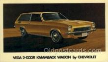 aut100196 - Vega 2 door kammback wagon by chevrolet Automotive, Car Vehicle, Old, Vintage, Antique Postcard Post Card