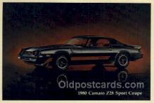 aut100197 - 1980 camaro z28 sport coupe Automotive, Car Vehicle, Old, Vintage, Antique Postcard Post Card