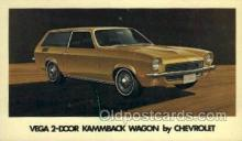 aut100200 - Vega 2 door kammback wagon by chevrolet Automotive, Car Vehicle, Old, Vintage, Antique Postcard Post Card