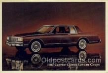 aut100201 - 1980 caprice classic landau coupe Automotive, Car Vehicle, Old, Vintage, Antique Postcard Post Card