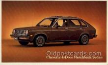 aut100202 - Chevette 4 door hatchback sedan Automotive, Car Vehicle, Old, Vintage, Antique Postcard Post Card