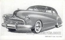 aut100206 - 1948 buick super four door Automotive, Car Vehicle, Old, Vintage, Antique Postcard Post Card