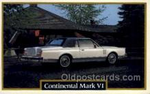 aut100212 - Continental mark vi Automotive, Car Vehicle, Old, Vintage, Antique Postcard Post Card