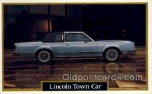 aut100213 - Lincoln town car Automotive, Car Vehicle, Old, Vintage, Antique Postcard Post Card