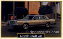 aut100214 - Lincoln town car Automotive, Car Vehicle, Old, Vintage, Antique Postcard Post Card