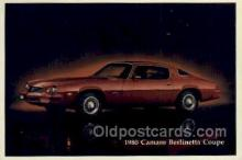 aut100216 - 1980 camaro berlinetta coupe Automotive, Car Vehicle, Old, Vintage, Antique Postcard Post Card