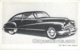 aut100224 - 1947 buick super sedanet Automotive, Car Vehicle, Old, Vintage, Antique Postcard Post Card