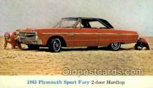 aut100225 - 1965 plymouth sport fury 2 door hardtop Automotive, Car Vehicle, Old, Vintage, Antique Postcard Post Card