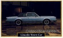 aut100230 - Lincoln town car Automotive, Car Vehicle, Old, Vintage, Antique Postcard Post Card