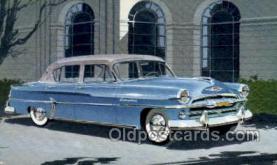 aut100233 - 1954 plymouth four door sedan Automotive, Car Vehicle, Old, Vintage, Antique Postcard Post Card