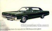 aut100235 - 1969 marquis brougham Automotive, Car Vehicle, Old, Vintage, Antique Postcard Post Card