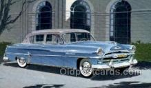 aut100236 - 1954 plymouth four door sedan Automotive, Car Vehicle, Old, Vintage, Antique Postcard Post Card