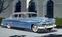 aut100238 - 1954 plymouth four door sedan Automotive, Car Vehicle, Old, Vintage, Antique Postcard Post Card