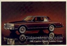 aut100242 - 1980 caprice classic landau coupe Automotive, Car Vehicle, Old, Vintage, Antique Postcard Post Card