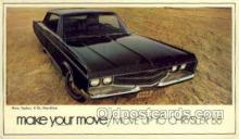 aut100247 - 1968 chrysler new yorker 4 door hardtop Automotive, Car Vehicle, Old, Vintage, Antique Postcard Post Card