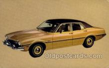 aut100251 - 1973 maverick 4 door sedan Automotive, Car Vehicle, Old, Vintage, Antique Postcard Post Card