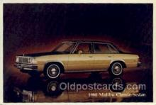 aut100253 - 1980 malibu classic sedan Automotive, Car Vehicle, Old, Vintage, Antique Postcard Post Card