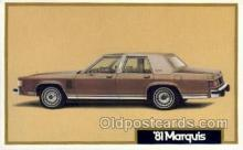 aut100255 - 1981 marquis Automotive, Car Vehicle, Old, Vintage, Antique Postcard Post Card