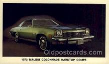 aut100256 - 1973 malibu colonnade hardtop coupe Automotive, Car Vehicle, Old, Vintage, Antique Postcard Post Card