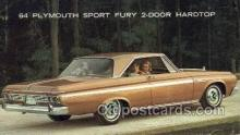 aut100269 - 1964 plymouth sport fury 2 door hardtop Automotive, Car Vehicle, Old, Vintage, Antique Postcard Post Card